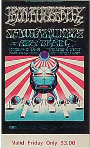 BG # 141 Iron Butterfly Fillmore Friday ticket BG141