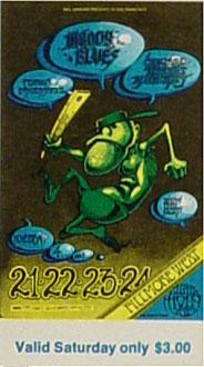 BG # 146 Moody Blues Fillmore Saturday ticket BG146