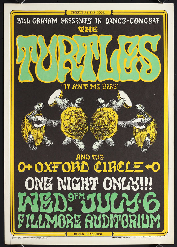 BG # 15-2 Turtles Fillmore Poster BG15