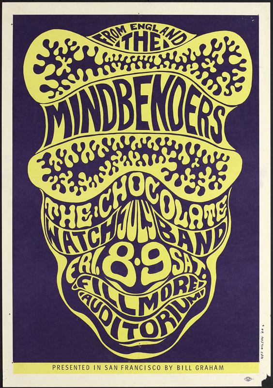 BG # 16-1 Mindbenders Fillmore Poster BG16