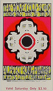 BG # 161 Move Fillmore Saturday ticket BG161