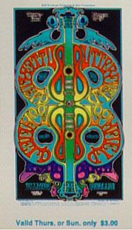 BG # 166 Butterfield Blues Band Fillmore Thursday - Sunday ticket BG166