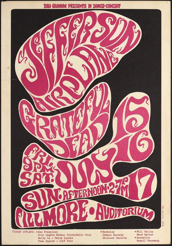 BG # 17-1 Jefferson Airplane Fillmore Poster BG17