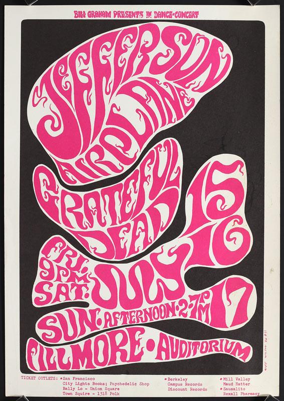 BG # 17-3 Jefferson Airplane Fillmore Poster BG17
