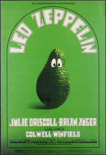 BG # 170-1 Led Zeppelin Fillmore Poster BG170
