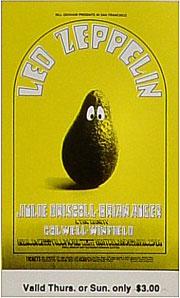 BG # 170 Led Zeppelin Fillmore Thursday - Sunday ticket BG170