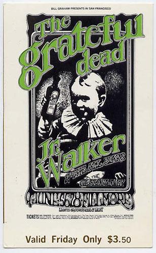 BG # 176 Grateful Dead Fillmore Friday ticket BG176