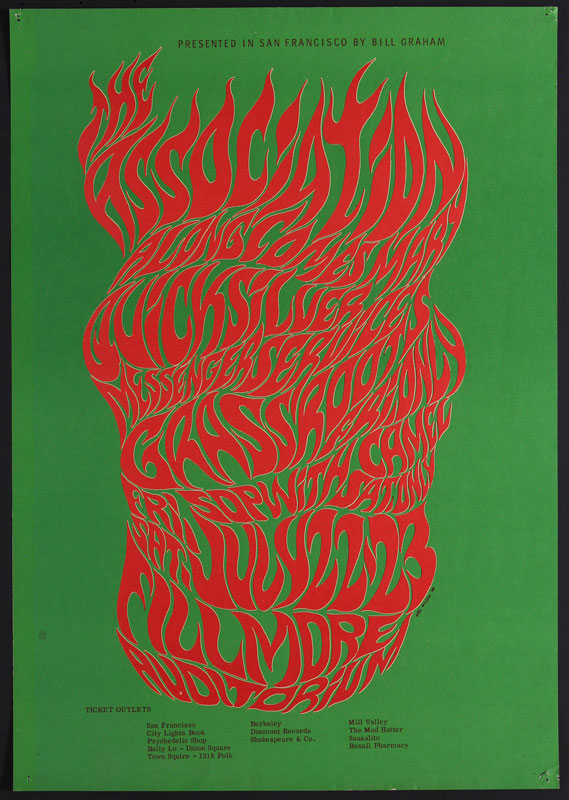 BG # 18-1 Association Fillmore Poster BG18