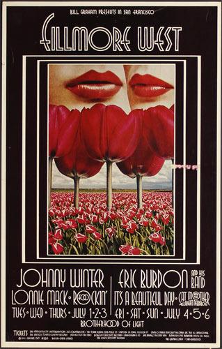 BG # 180-2 Johnny Winter Fillmore Poster BG180