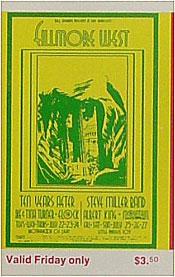 BG # 183 Ten Years After Fillmore Friday ticket BG183