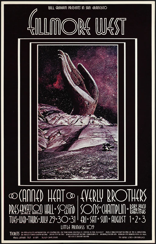BG # 184-1 Canned Heat Fillmore Poster BG184
