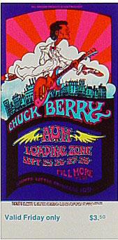BG # 193 Chuck Berry Fillmore Friday ticket BG193