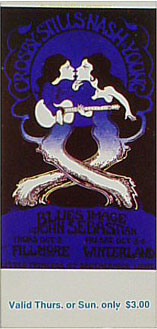 BG # 194 Crosby, Stills, Nash & Young Fillmore Thursday - Sunday ticket BG194