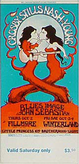 BG # 194 Crosby, Stills, Nash & Young Fillmore Saturday ticket BG194