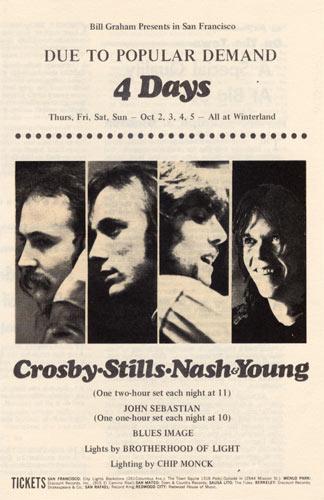 BG # 194 Crosby, Stills, Nash & Young Fillmore handbill BG194