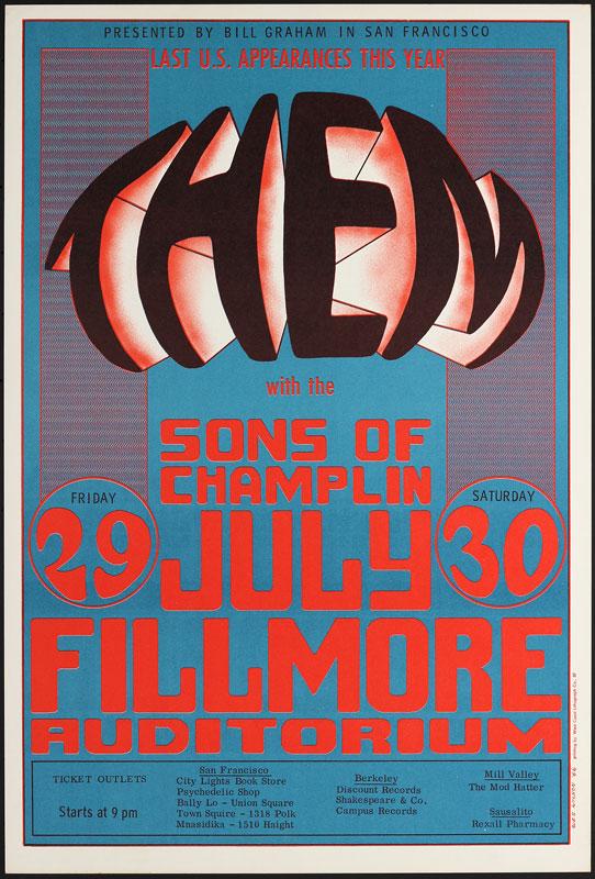 BG # 20-2 Them Fillmore Poster BG20