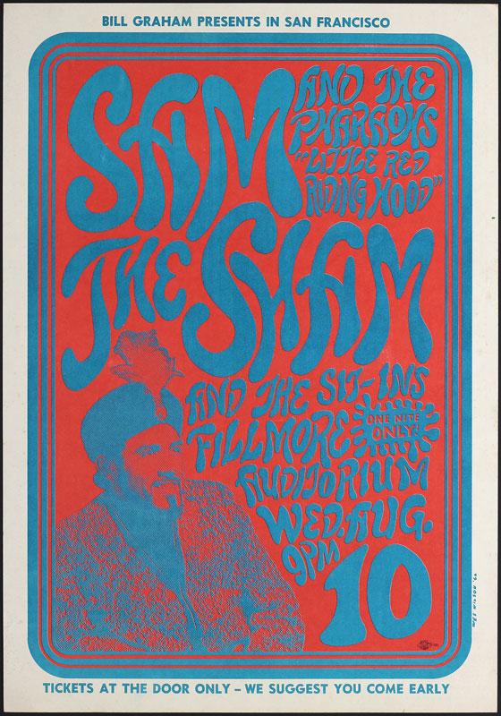 BG # 22-1 Sam the Sham & Pharaohs Fillmore Poster BG22