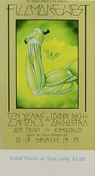 BG # 223 Ten Years After Fillmore Thursday - Sunday ticket BG223