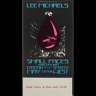 BG # 232 Lee Michaels Fillmore Thursday - Sunday ticket BG232