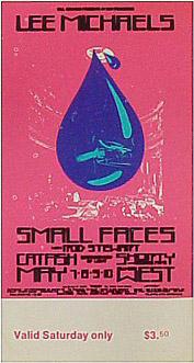 BG # 232 Lee Michaels Fillmore Saturday ticket BG232