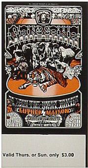 BG # 248 Santana Fillmore Thursday - Sunday ticket BG248