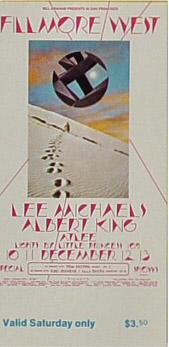 BG # 260 Lee Michaels Fillmore Saturday ticket BG260