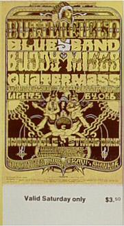 BG # 261 Butterfield Blues Band Fillmore Saturday ticket BG261