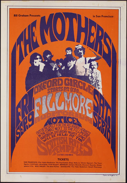 BG # 27-2 Mothers Fillmore Poster BG27