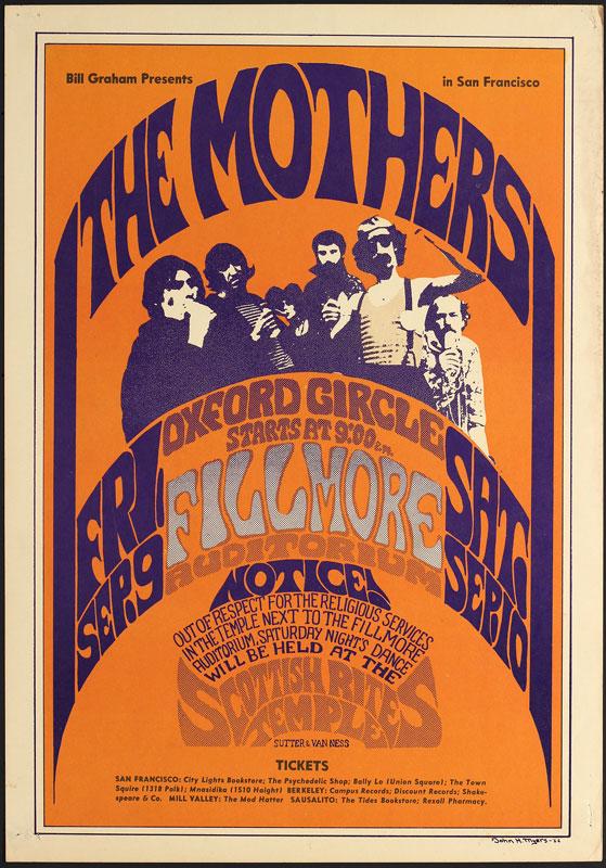 BG # 27-3 Mothers Fillmore Poster BG27