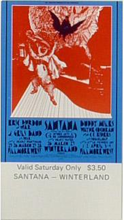 BG # 275 Eric Burdon and War Fillmore Saturday ticket BG275
