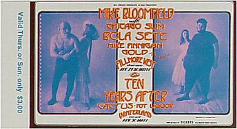 BG # 278 Mike Bloomfield Fillmore Thursday - Sunday ticket BG278