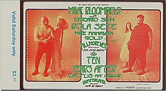 BG # 278 Mike Bloomfield Fillmore Saturday ticket BG278