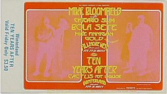 BG # 278 Mike Bloomfield Fillmore Friday ticket BG278