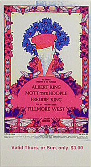 BG # 283 Albert King Fillmore Thursday - Sunday ticket BG283