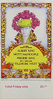 BG # 283 Albert King Fillmore Friday ticket BG283