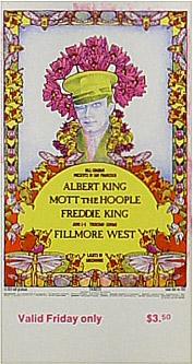 BG # 283 Albert King Fillmore Friday ticket BG283