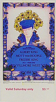 BG # 283 Albert King Fillmore Saturday ticket BG283