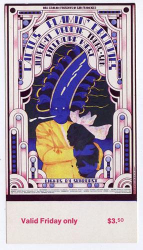 BG # 284 Cactus Fillmore Friday ticket BG284