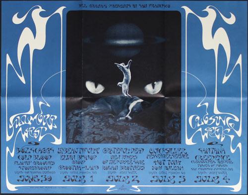 BG # 287-2 Boz Scaggs Cold Blood Fillmore Poster BG287