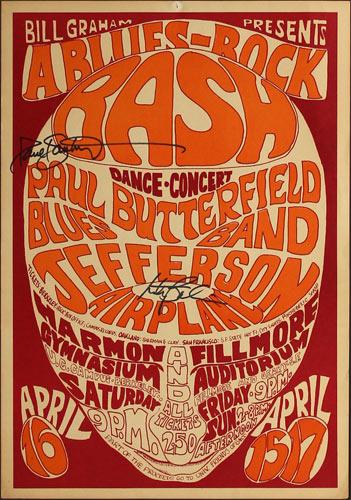 BG # 3-1 Paul Butterfield Blues Band Fillmore Poster BG3