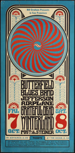 BG # 30-2 Butterfield Blues Band Fillmore Poster BG30