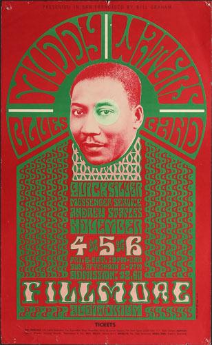 BG # 35-1 Muddy Waters Blues Band Fillmore Poster BG35