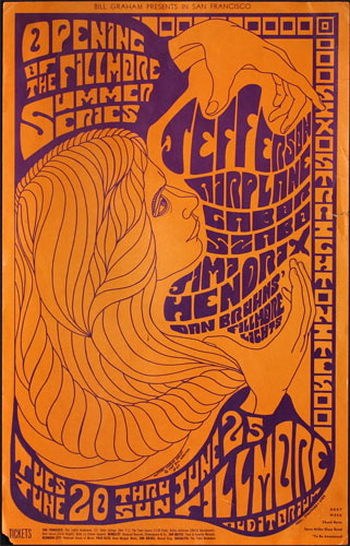 BG # 69-1 Jefferson Airplane Fillmore Poster BG69