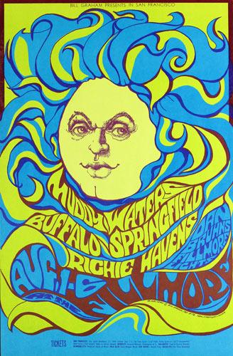 BG # 76-1 Muddy Waters Fillmore Poster BG76