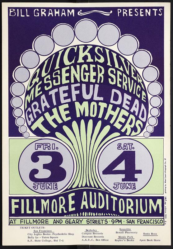 BG # 9-2 Quicksilver Messenger Service Fillmore Poster BG9
