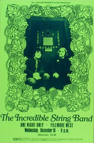 BG # ISBg-1 Incredible String Band Fillmore Poster BGISBg