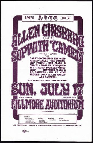 BG # ARTS  Fillmore Handbill BGARTS