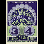 BG # 9 Quicksilver Messenger Service Fillmore postcard - stamp back BG9