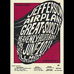 BG # 10 Jefferson Airplane Fillmore postcard BG10