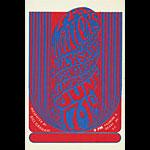 BG # 11 Wailers Fillmore postcard - stamp back BG11